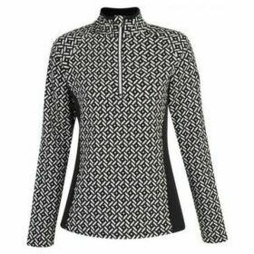 Dare 2b  Confirm Patterned Half Zip Luxe Stretch Midlayer Black  women's Sweatshirt in Black