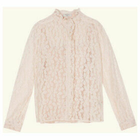 Frnch  CORANE lace long sleeve shirt  women's Shirt in Pink