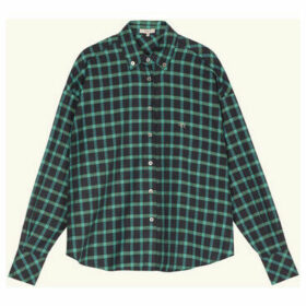 Frnch  CIRINE long sleeve check shirt  women's Shirt in Green