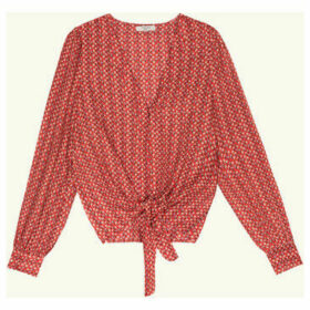Frnch  Long-sleeve shirt with CELICIA print  women's Shirt in Red