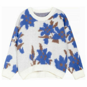 Frnch  Long-sleeved round-neck sweater with flowers NORE  women's Sweater in White