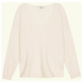 Frnch  V-neck long-sleeved knit sweater NAGETE  women's Sweater in White