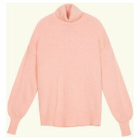 Frnch  Long-sleeved turtleneck sweater in knit NARY  women's Sweater in Pink
