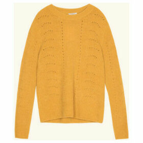 Frnch  Long-sleeved crew neck sweater in NORTH knit  women's Sweater in Yellow