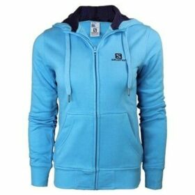 Salomon  Logo Hoodie FZ W  women's Sweatshirt in Blue