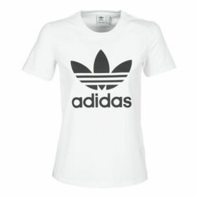 adidas  TREFOIL TEE  women's T shirt in White