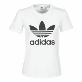adidas  TREFOIL TEE  women's T shirt in White