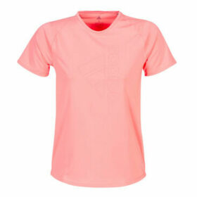 adidas  TECH BOS TEE  women's T shirt in Pink