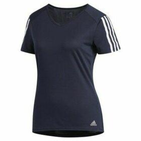 adidas  Run 3S Tee W  women's T shirt in multicolour