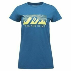 Black Diamond  Rise N Climb Tee  women's T shirt in multicolour