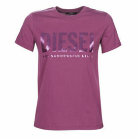 Diesel  T-SILY  women's T shirt in Pink