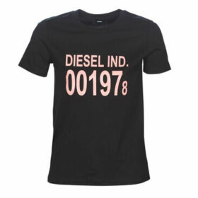 Diesel  T-SILY  women's T shirt in Black