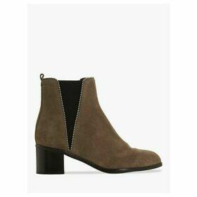 Dune Portobello Stud Ankle Boots, Grey Suede
