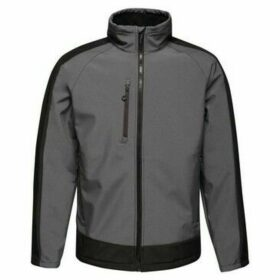 Professional  Contrast 3 Layer Printable Softshell Jacket Grey  women's Jacket in Grey