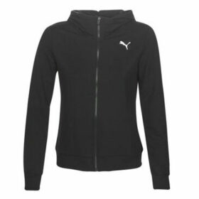 Puma  W MS FZ LOGO HOODY  women's Sweatshirt in Black