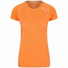 Regatta  Virda III Quick Dry Mesh T-Shirt Orange  women's T shirt in Orange