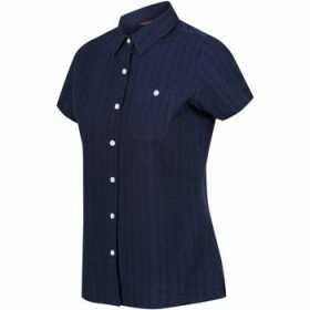 Regatta  Jerbra III Short Sleeve Shirt Blue  women's Shirt in Blue