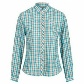 Regatta  Nimis Long Sleeved Checked Shirt Blue  women's Shirt in Blue