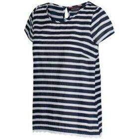 Regatta  Jakayla Coolweave Short Sleeve Shirt Blue  women's T shirt in Blue