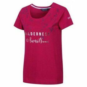 Regatta  Filandra III Graphic T-Shirt Pink  women's T shirt in Pink