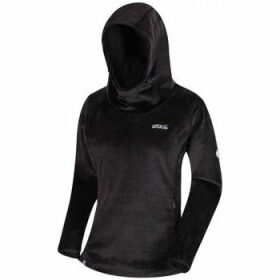 Regatta  Halia Velour Hoodie Black  women's Sweatshirt in Black