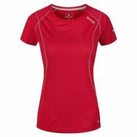 Regatta  Virda III Quick Dry Mesh T-Shirt Pink  women's T shirt in Pink