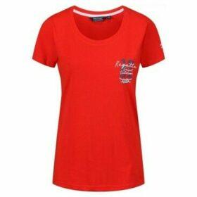 Regatta  Filandra III Graphic T-Shirt Red  women's T shirt in Red