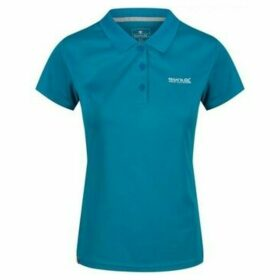Regatta  Maverick IV Pique Polo Shirt Blue  women's T shirt in Blue
