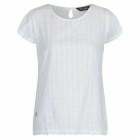Regatta  Jakayla Coolweave Short Sleeve Shirt White  women's Blouse in White