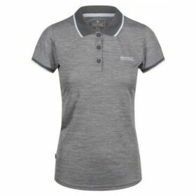 Regatta  Remex II Polo Neck T-Shirt Grey  women's Polo shirt in Grey