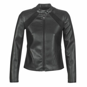 Guess  PHILOTHEA JACKET  women's Leather jacket in Black