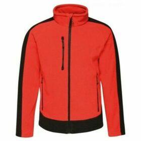 Professional  Contrast Heavyweight Full Zip Fleece Red  women's Fleece jacket in Red