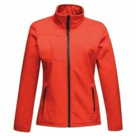 Professional  Octagon II Printable 3 Layer Membrane Softshell Jacket Red  women's Fleece jacket in Red