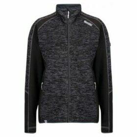 Regatta  Laney V Knit Effect Fleece Black  women's Fleece jacket in Black