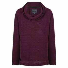 Regatta  Quintia Cowl Neck Knitted Fleece Purple  women's Fleece jacket in Purple