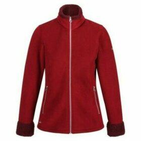 Regatta  Bernice Faux Fur Full Zip Fleece Red  women's Fleece jacket in Red