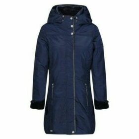 Regatta  Patchouli Quilted Long Length Hooded Jacket Blue  women's Parka in Blue