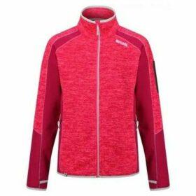 Regatta  Laney V Knit Effect Fleece Pink  women's Fleece jacket in Pink