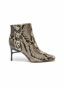 'Arezoo' snake embossed leather boots
