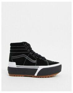 Vans SK8-Hi Stacked suede trainers in black