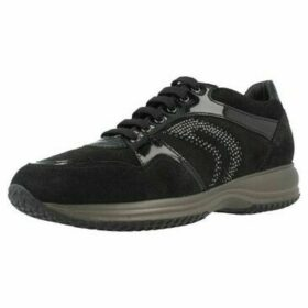 Geox  D HAPPY B SCAM  women's Shoes (Trainers) in Black