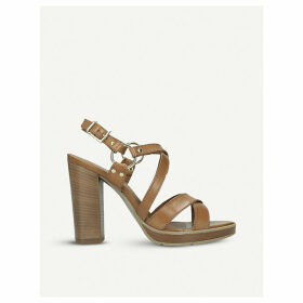 Karmen leather heeled sandals
