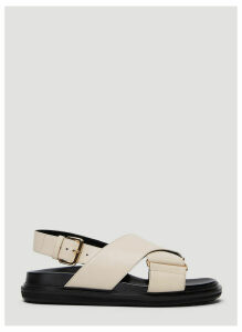 Marni Fussbett Sandals in White size EU - 36.5