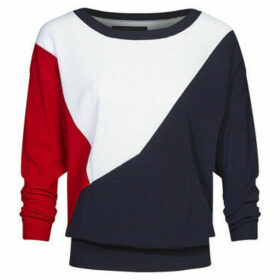 Mado Et Les Autres  Tricolore loose sweater  women's Sweatshirt in Blue