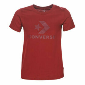 Converse  STAR CHEVRON  women's T shirt in Red