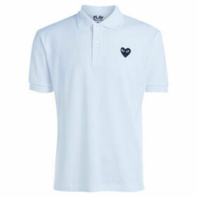 Comme Des Garcons  Polo Comme Des Garçons PLAYwhite t-shirt with black heart  women's Polo shirt in White