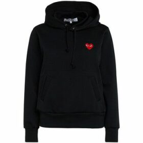 Comme Des Garcons  black fleece with red heart  women's Sweatshirt in Black