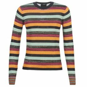 Maison Scotch  FITTED PULLOVER IN MULTICOLOUR LUREX STRIPE  women's Sweater in Multicolour