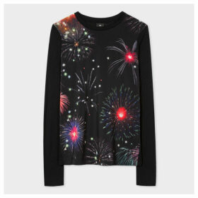 Women's Black 'Fireworks' Long-Sleeve T-Shirt