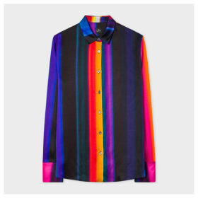 Women's Black 'Horizon Stripe' Print Shirt